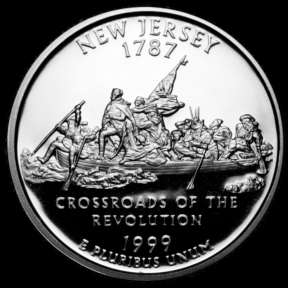 Unique 1999 S New Jersey Silver Proof Statehood Quarter From U S State Quarter Proof Set Of Top 48 Images State Quarter Proof Set