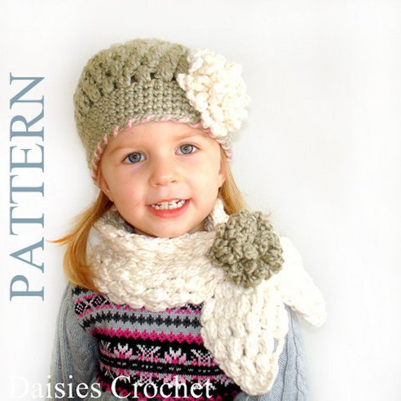 Unique 2 Patterns Pdf Crochet Hat Scarf Newborn Infant toddler Girl Crochet Little Girl Hats Of Charming 40 Images Crochet Little Girl Hats