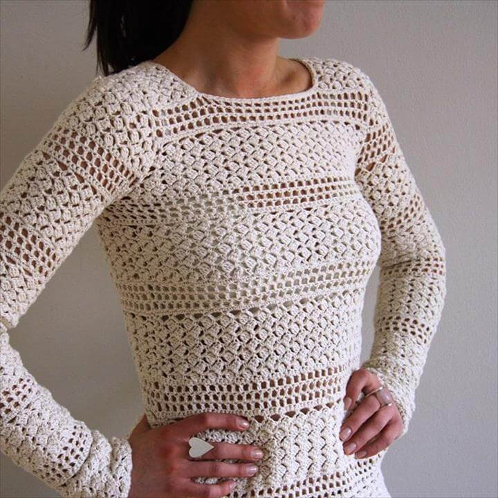 Unique 20 Awesome Crochet Sweaters for Women S Crochet Pullover Of Top 47 Images Crochet Pullover