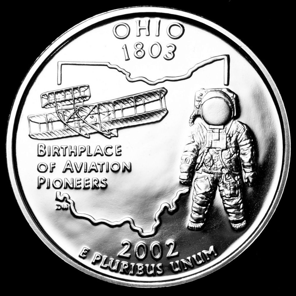 Unique 2002 S Ohio State Mint Silver Proof Statehood Quarter State Quarter Proof Set Of Top 48 Images State Quarter Proof Set