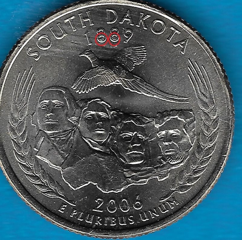 Unique 2006 P south Dakota State Quarter Error Coin Reverse Valuable Quarters to Look for Of Top 40 Pics Valuable Quarters to Look for