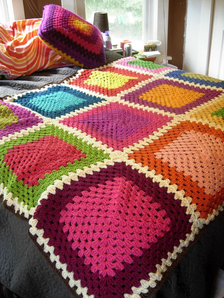Unique 239 Best Scrap Knitting and Crocheting Images On Pinterest Granny Square Afghan Pattern Of Beautiful 49 Photos Granny Square Afghan Pattern