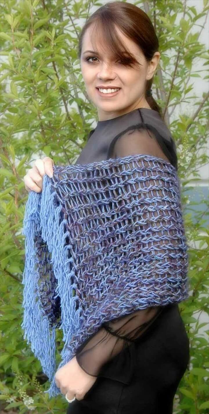 Unique 25 Diy Crochet Shawl Patterns Knitted Wrap Pattern Of Adorable 40 Photos Knitted Wrap Pattern