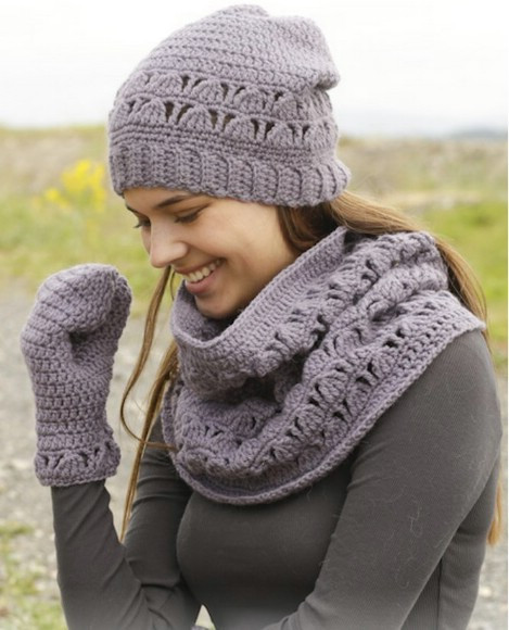 Unique 26 Cozy Diy Infinity Scarves with Free Patterns and Crochet Hat and Scarf Set Of Amazing 44 Models Crochet Hat and Scarf Set
