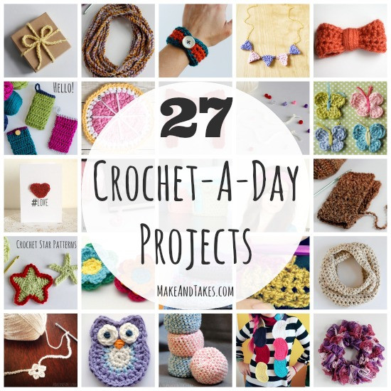 27 Crochet A Day Crochet Patterns and Tutorials