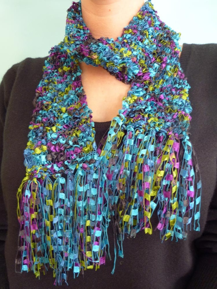 Unique 30 Best Images About Ladder Yarn Thread Jewelry On Yarn Scarf Of Attractive 49 Photos Yarn Scarf
