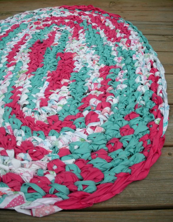 Unique 40×28 Hand Crocheted Oval Rag Rug Fuchsia and Hand Crochet Rug Of Contemporary 41 Models Hand Crochet Rug