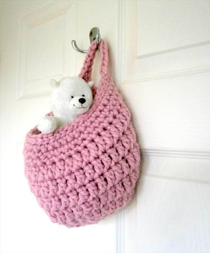 Unique 46 Free & Amazing Crochet Baskets for Storage Crochet Hanging Basket Of Awesome 47 Photos Crochet Hanging Basket