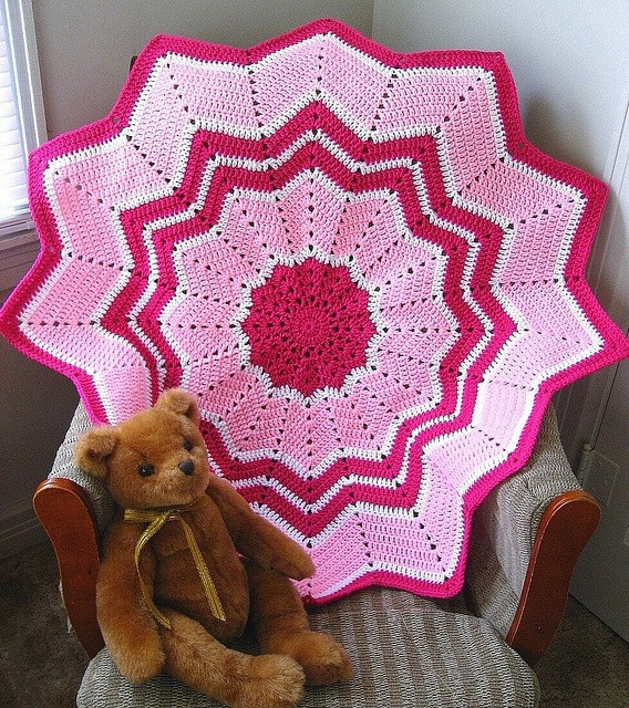 Unique 66 Best Images About Afghans Round Ripple 12 Point Crochet Round Baby Blanket Of Lovely New Hand Crochet Round Lacy Pink & White Baby Afghan Crochet Round Baby Blanket