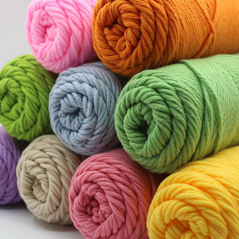 Unique 6pcs Lot Lovers Cotton Thread Natural Milk Cotton 3mm Hand Crochet Yarn Of Delightful 43 Models Hand Crochet Yarn