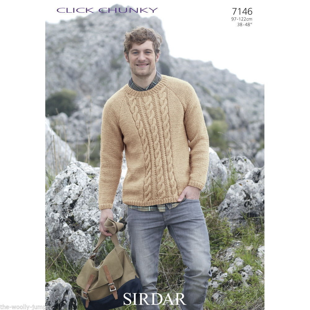 Unique 7146 Sirdar Click Chunky Mens Sweater Knitting Pattern Mens Sweater Knitting Pattern Of Adorable 48 Pics Mens Sweater Knitting Pattern