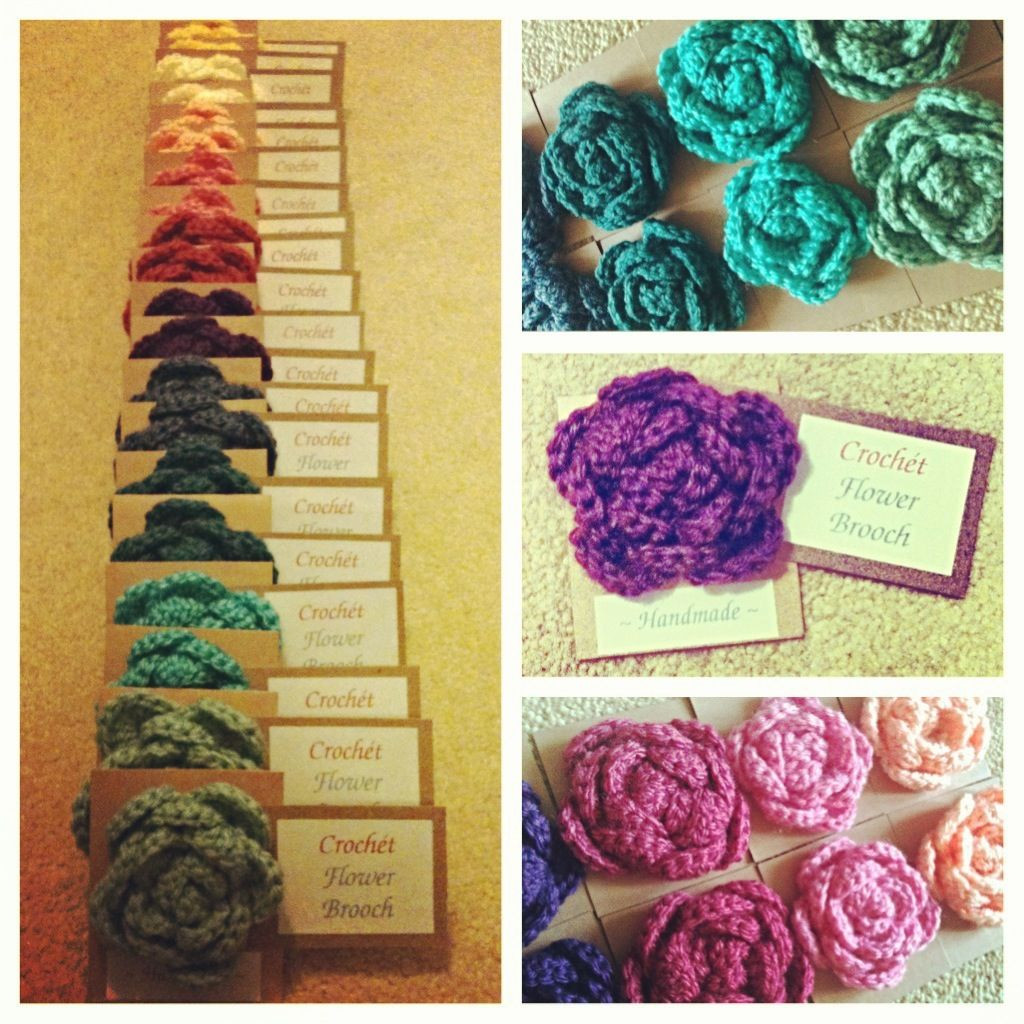 Unique A Rainbow Of Crochet Flower Brooches My Final Craft Fair Crochet Crafts Of Wonderful 41 Models Crochet Crafts