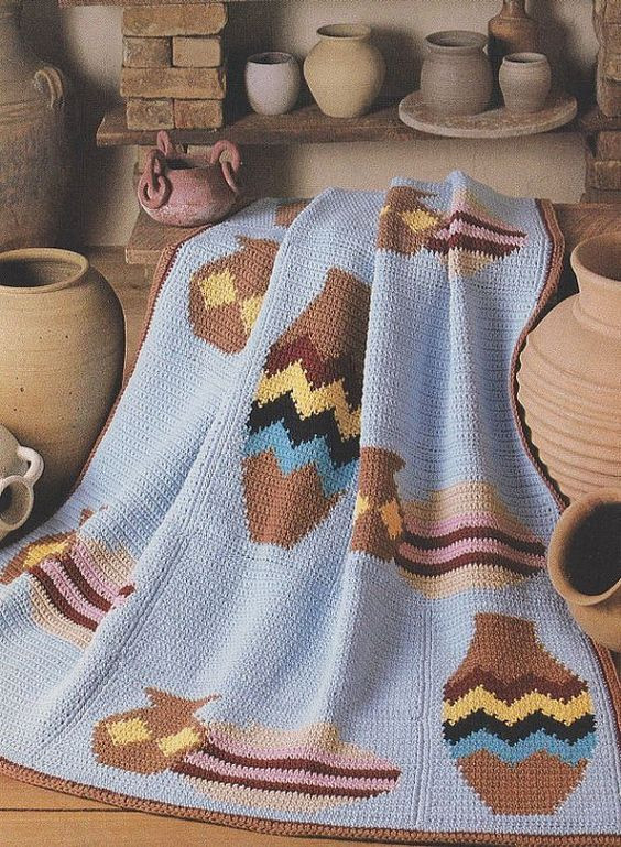 Afghan crochet patterns Afghan crochet and Pottery on