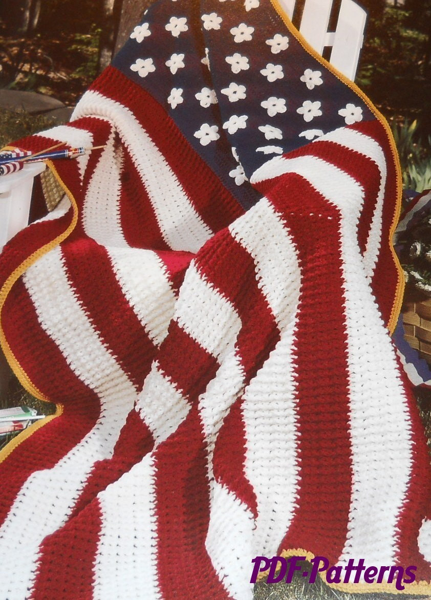 Unique America the Beautiful Blanket Pattern American Flag Crochet Blanket Of Gorgeous 42 Ideas American Flag Crochet Blanket