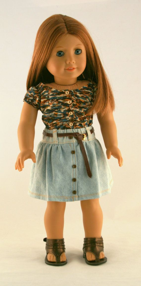 Unique American Girl Doll Clothes Gathered Denim Skirt Floral American Girl Doll Skirts Of Incredible 50 Ideas American Girl Doll Skirts