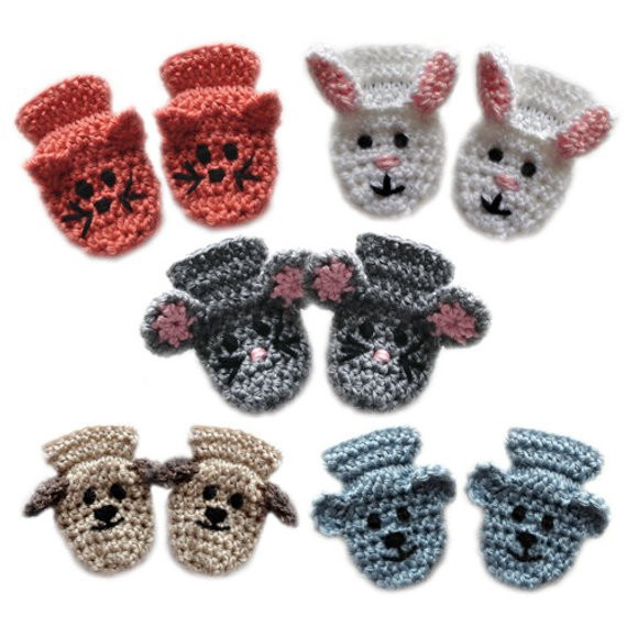 Unique Animal Baby Mittens Pdf Crochet Pattern Instant Download Crochet toddler Mittens Of Awesome 41 Pictures Crochet toddler Mittens