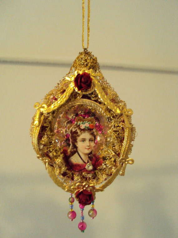 Antique Victorian Christmas Ornament Fancy by Victoriansummer