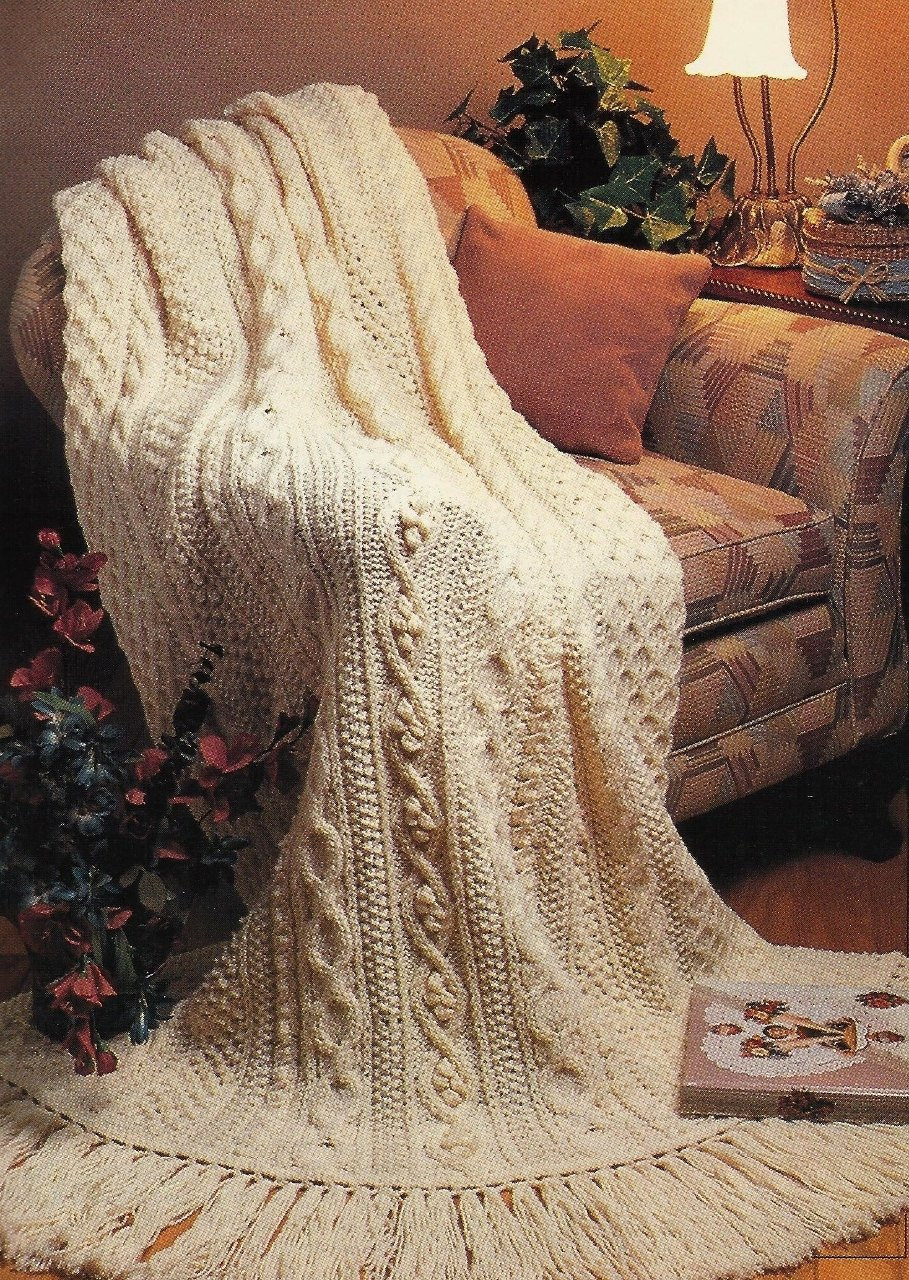 Unique Aran Fisherman Afghan Pattern Knit Vintage Pattern by Aran Crochet Afghan Pattern Of Gorgeous 41 Pics Aran Crochet Afghan Pattern