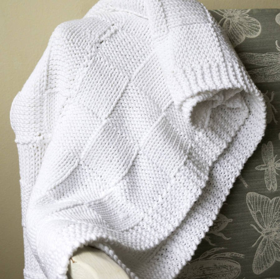 baby blanket beginners knitting kit cotton by