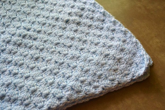 Unique Baby Blanket Crocheted Blue Basket Weave Crib Size by Basket Weave Crochet Blanket Of Great 49 Pictures Basket Weave Crochet Blanket