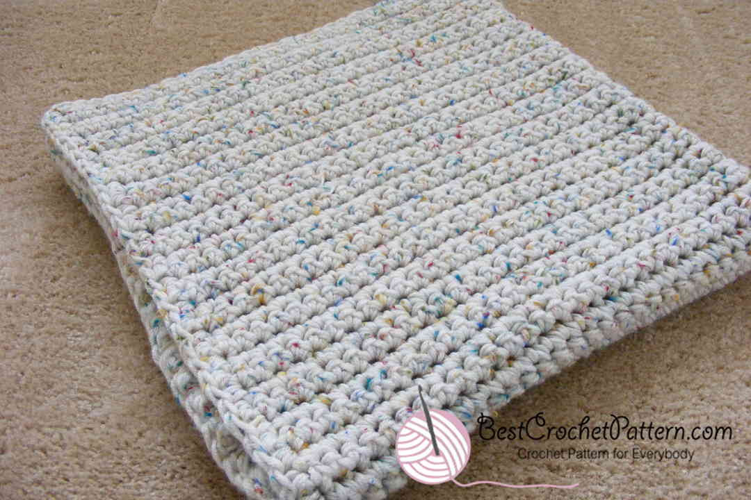 Baby Blanket Single Crochet Pattern for Beginner