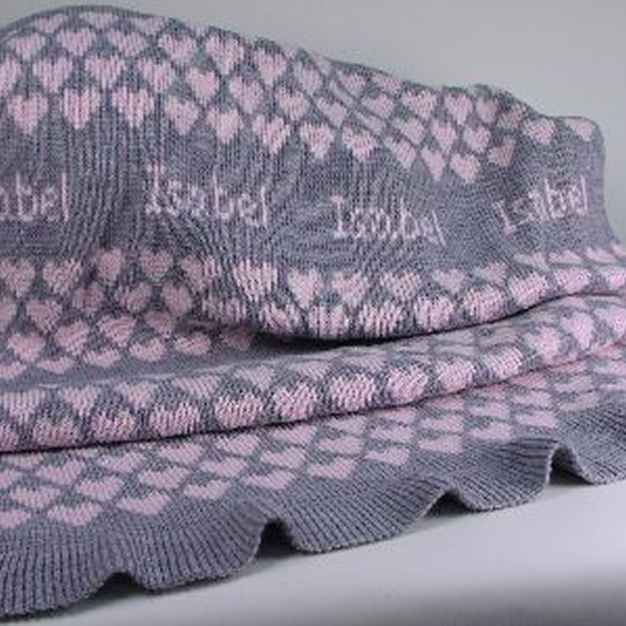 Unique Baby Blankets Awesome Personalized Knit Baby Blanket Pink & Gray Of Innovative 40 Ideas Unique Baby Blankets