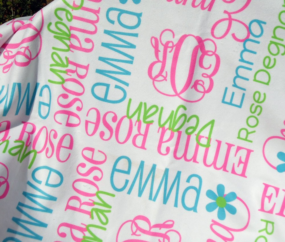 Unique Baby Blankets Awesome Personalized Swaddle Blanket Custom Baby by thedreamydaisy Of Innovative 40 Ideas Unique Baby Blankets