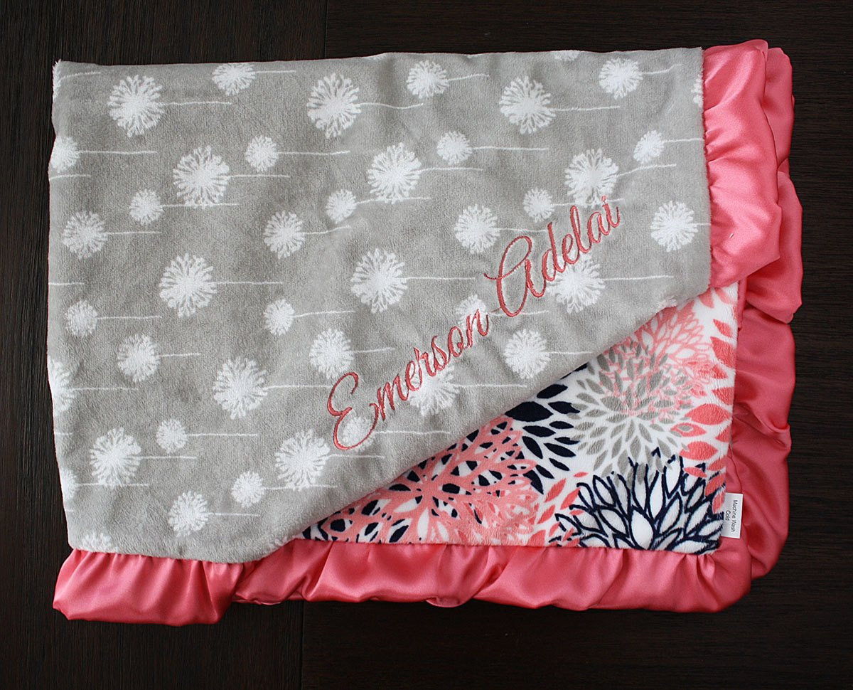 Unique Baby Blankets Beautiful Embroidered Minky Blanket Minky Baby Blanket Personalized Of Innovative 40 Ideas Unique Baby Blankets
