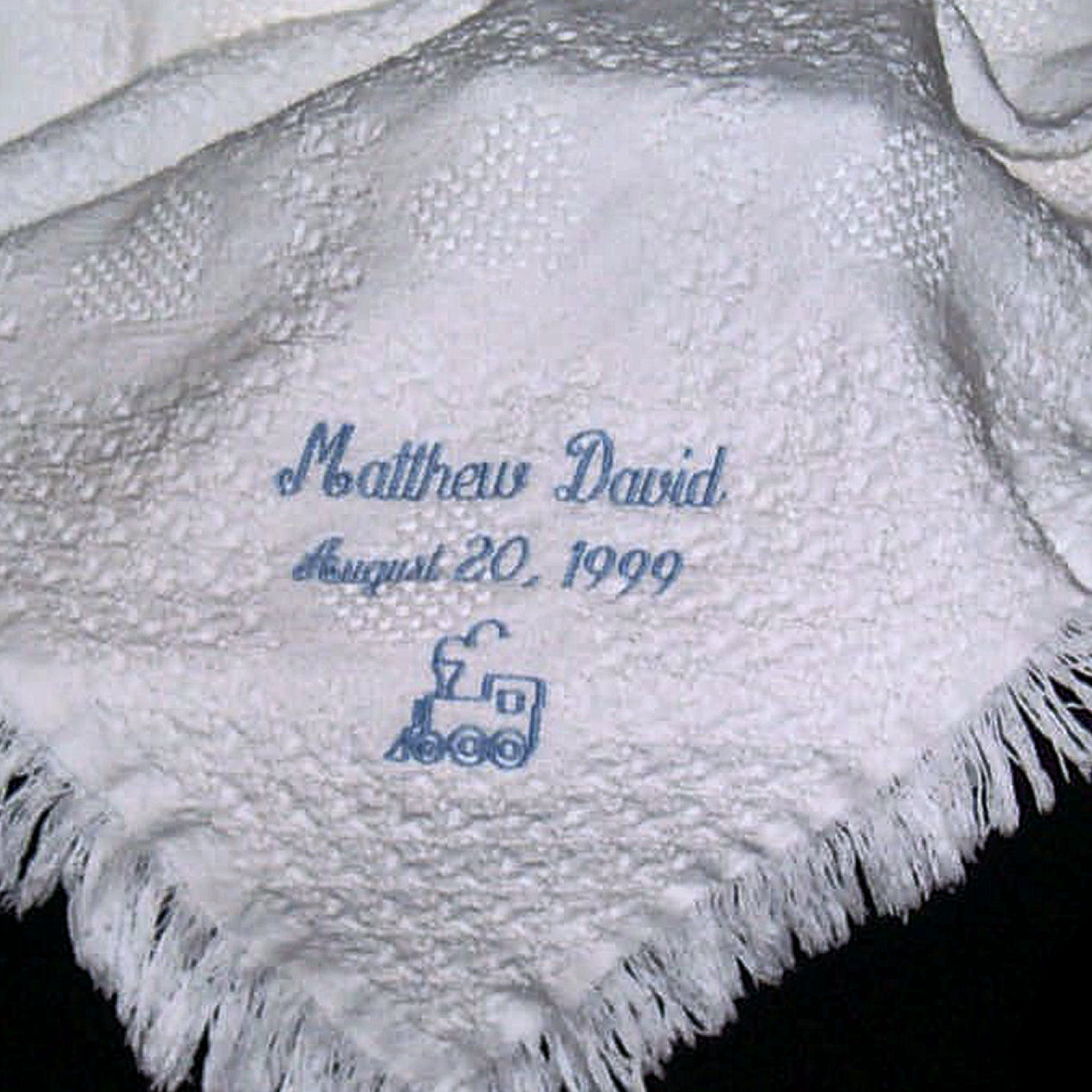 Personalized Baby Blanket Embroidered Carriage Throw