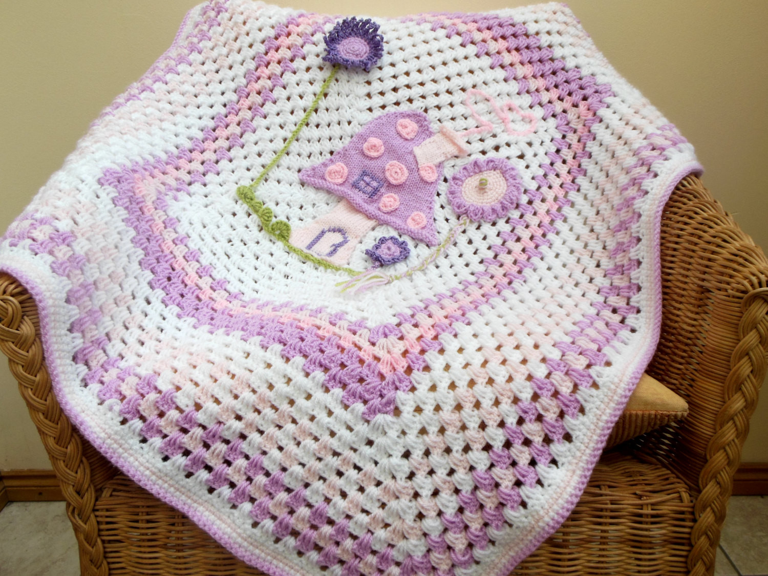 Unique Baby Blankets Fresh Crochet Baby Blanket Picture Spring Fairy Garden T Of Innovative 40 Ideas Unique Baby Blankets