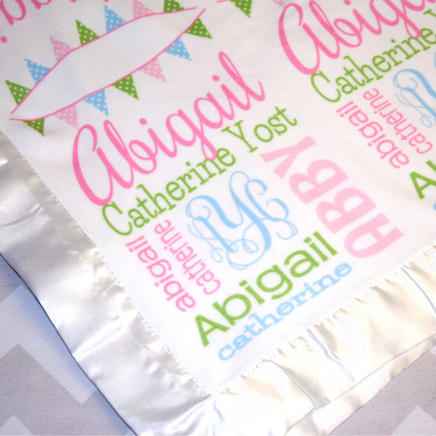 Unique Baby Blankets Fresh Personalized Baby Blanket Satin Edge by Monogrammarketplace Of Innovative 40 Ideas Unique Baby Blankets