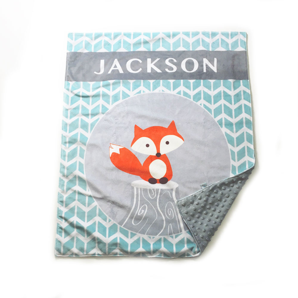 Personalized Monthly Milestone Baby Blanket Floral