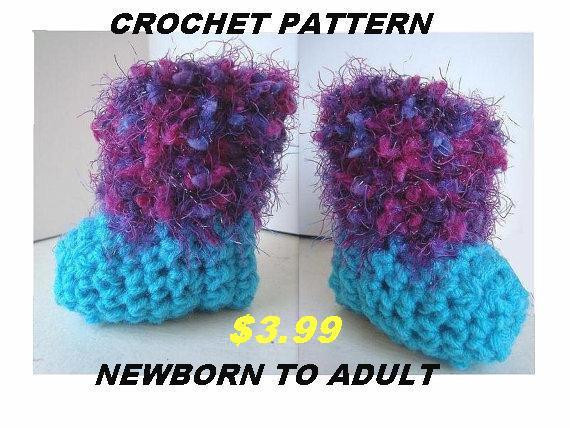 Unique Baby Booties Adult Boot Slippers Crochet Pattern Newborn to Knitted Booties for Adults Of Delightful 47 Images Knitted Booties for Adults