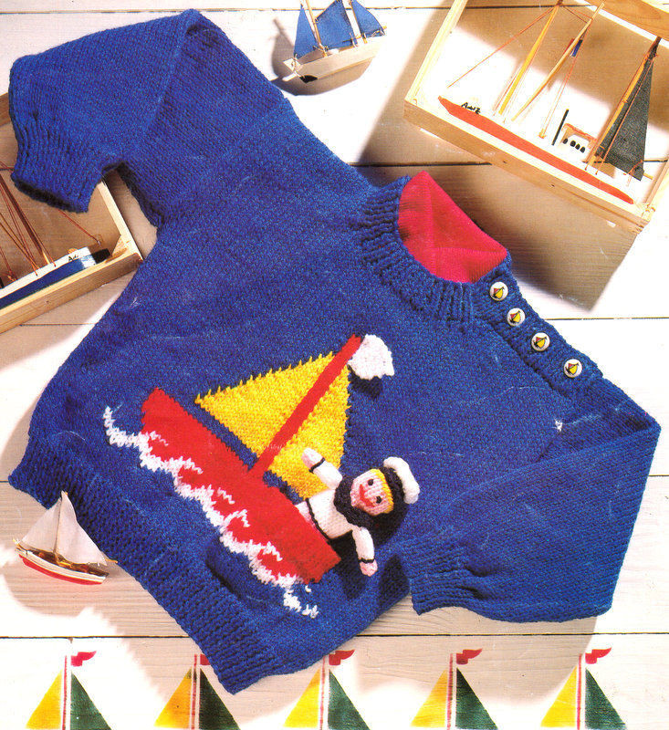 "Unique Baby Childrens Nautical Sweater toy Sailor Boat 20"" 26 Knitting Patterns for Childrens Sweaters Of Charming 47 Models Knitting Patterns for Childrens Sweaters"