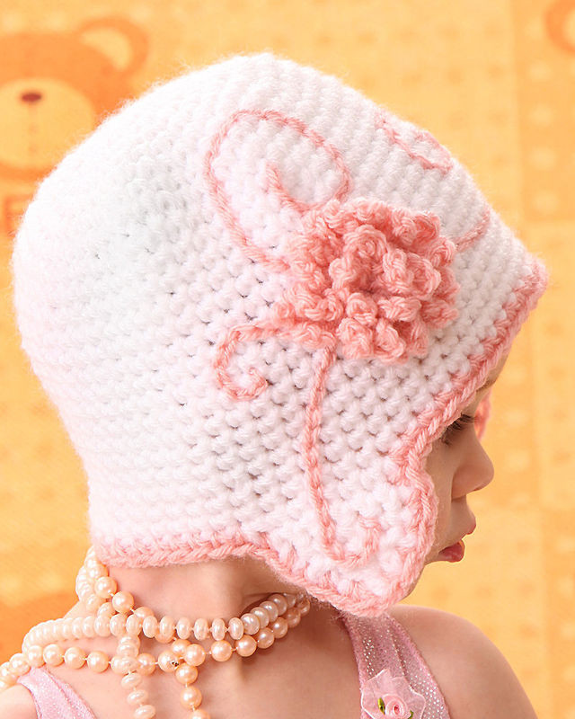 Unique Baby Girl Flapper Hat with Flower Newborn Baby Grace Crochet Flower for Baby Hat Of Beautiful 42 Ideas Crochet Flower for Baby Hat