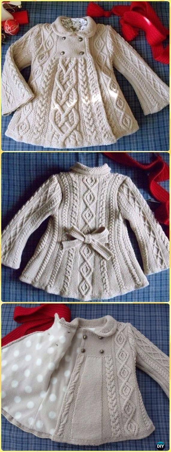 "Unique Baby Knitting Patterns Cable Knit Elizabeth Coat Free Cable Knit Sweater Pattern Of New Lace & Cable Sweater Dk Wool 30"" 40"" Knitting Cable Knit Sweater Pattern"