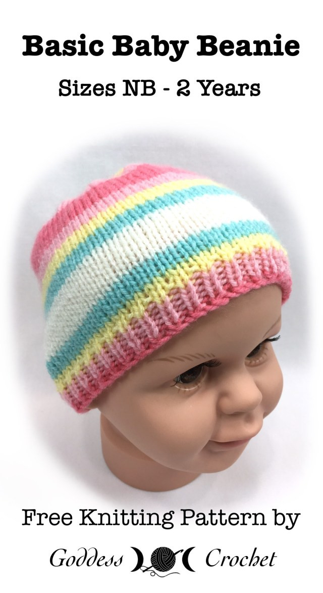 Unique Basic Baby Beanie – Free Knitting Pattern – Goddess Crochet Knitted Baby Beanies Of Charming 44 Models Knitted Baby Beanies