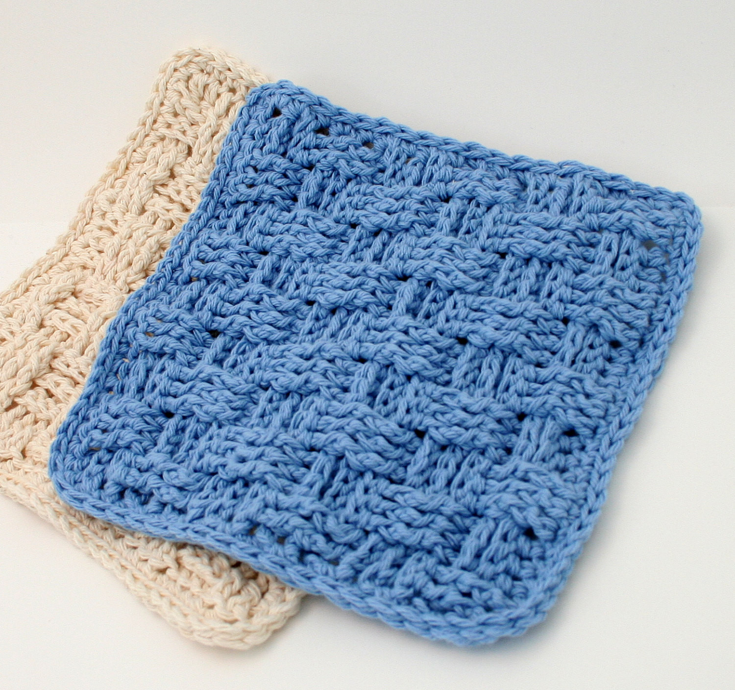 Basket Weave Dishcloth Pattern Crochet