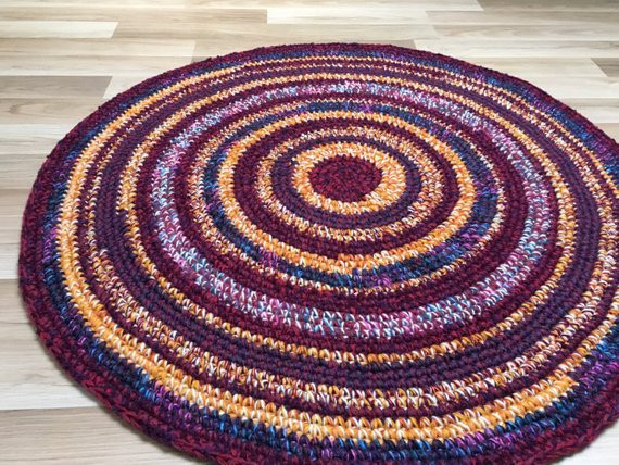 Unique Beautiful Hand Crochet Rug Measures 39 Inches or 100 Cm In Hand Crochet Rug Of Contemporary 41 Models Hand Crochet Rug