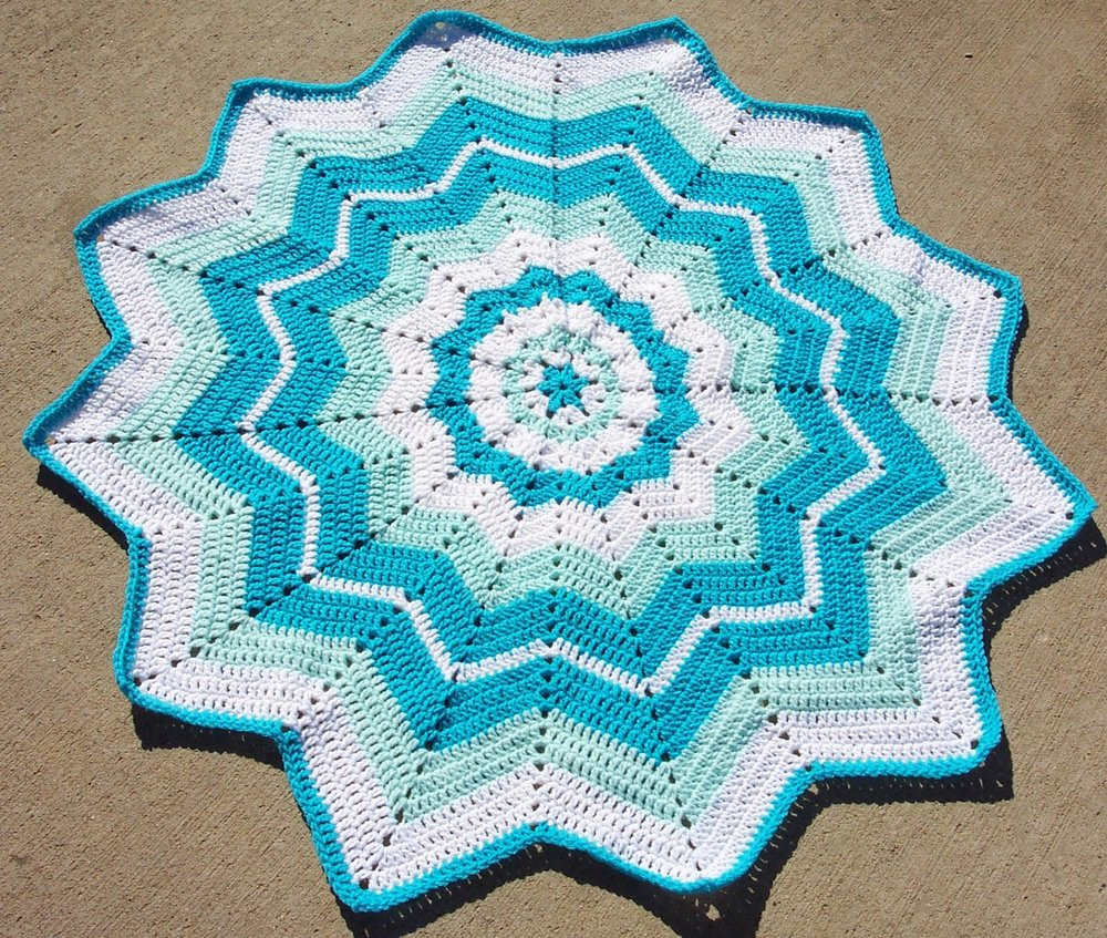 Unique Beginner S Round Ripple Round Afghan Crochet Pattern Of Great 44 Photos Round Afghan Crochet Pattern