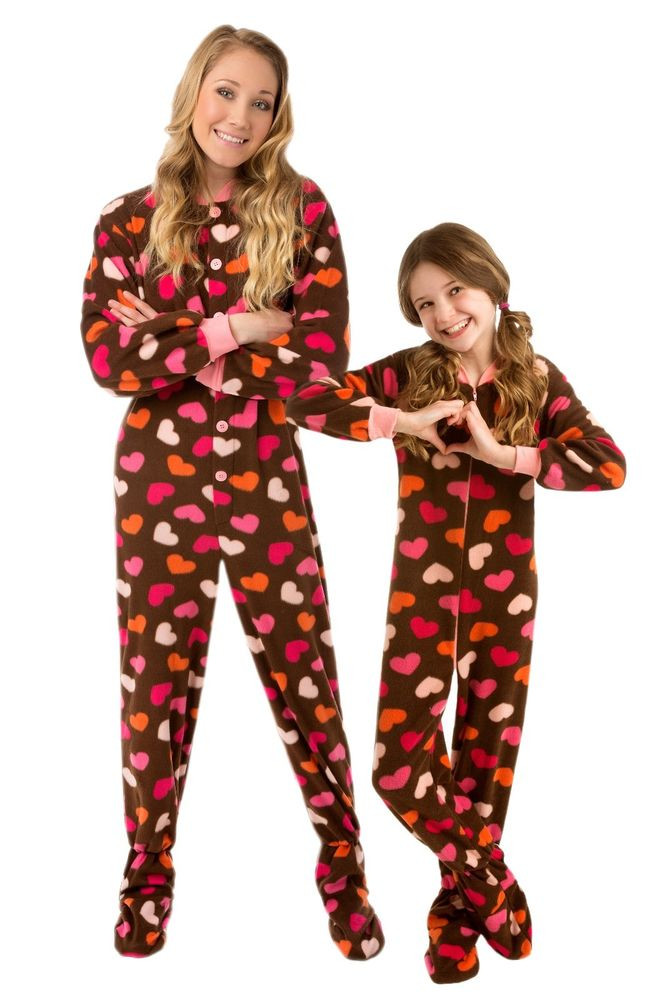 Unique Big Feet Pjs Brown with Hearts Footed Pajamas Adult Baby Pajamas with Feet Of Delightful 40 Photos Baby Pajamas with Feet