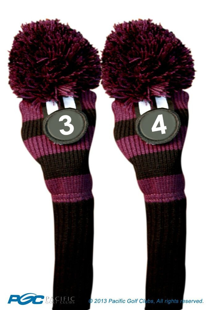 Black Purple Hybrid Headcovers 3 4 Knit Rescue Golf Club