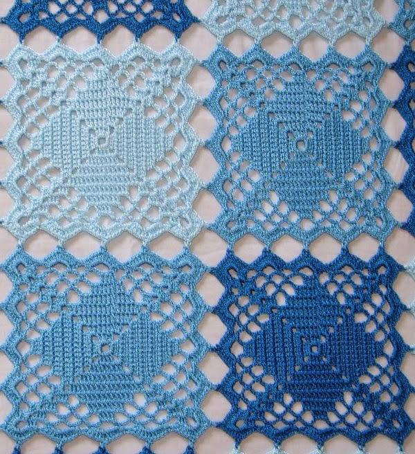 Unique Blue Lace Crochet Squares Bedspread ⋆ Crochet Kingdom Free Crochet Bedspread Patterns Of Unique 48 Photos Free Crochet Bedspread Patterns