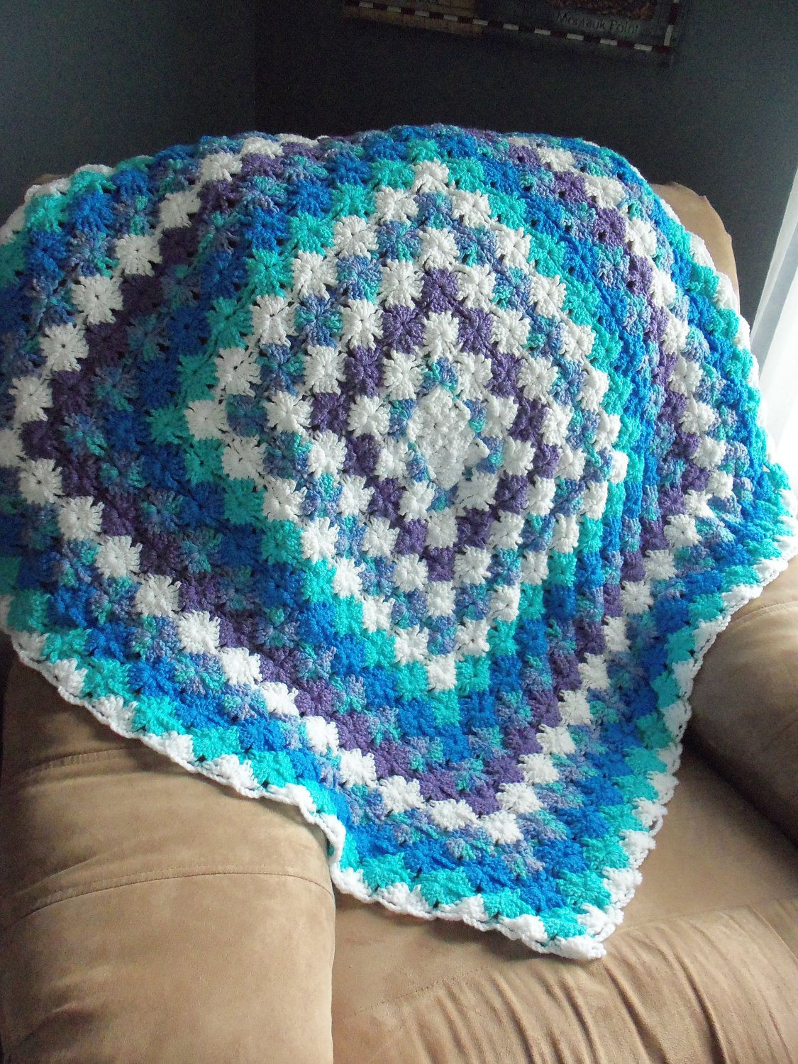 Unique Blues and Lavender Bavarian Crochet Afghan Lapghan Throw Lapghan Patterns Of Brilliant 39 Images Lapghan Patterns