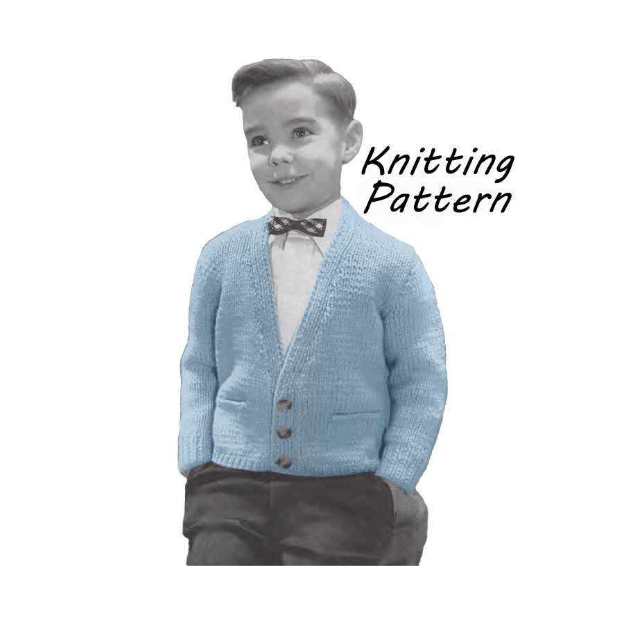 Unique Boy S Cardigan Sweater Knitting Pattern Sz 4 6 8 10 12 Boy Sweater Knitting Pattern Of Incredible 49 Ideas Boy Sweater Knitting Pattern