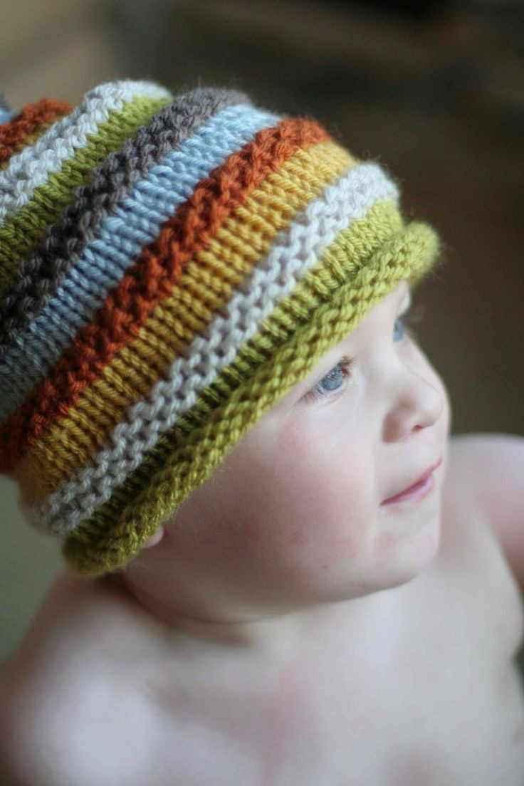 Unique Boy S Knit Hat with Colourful Stripes Size 18 Months to 4 Knitted Baby Beanies Of Charming 44 Models Knitted Baby Beanies