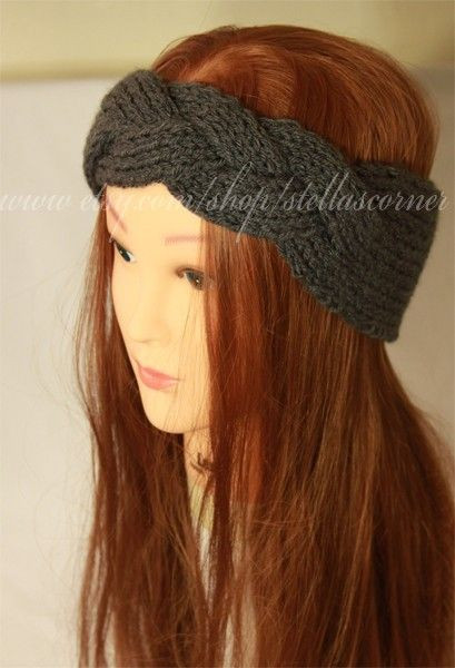 Braided headbands Knit headband and Knitted headband on