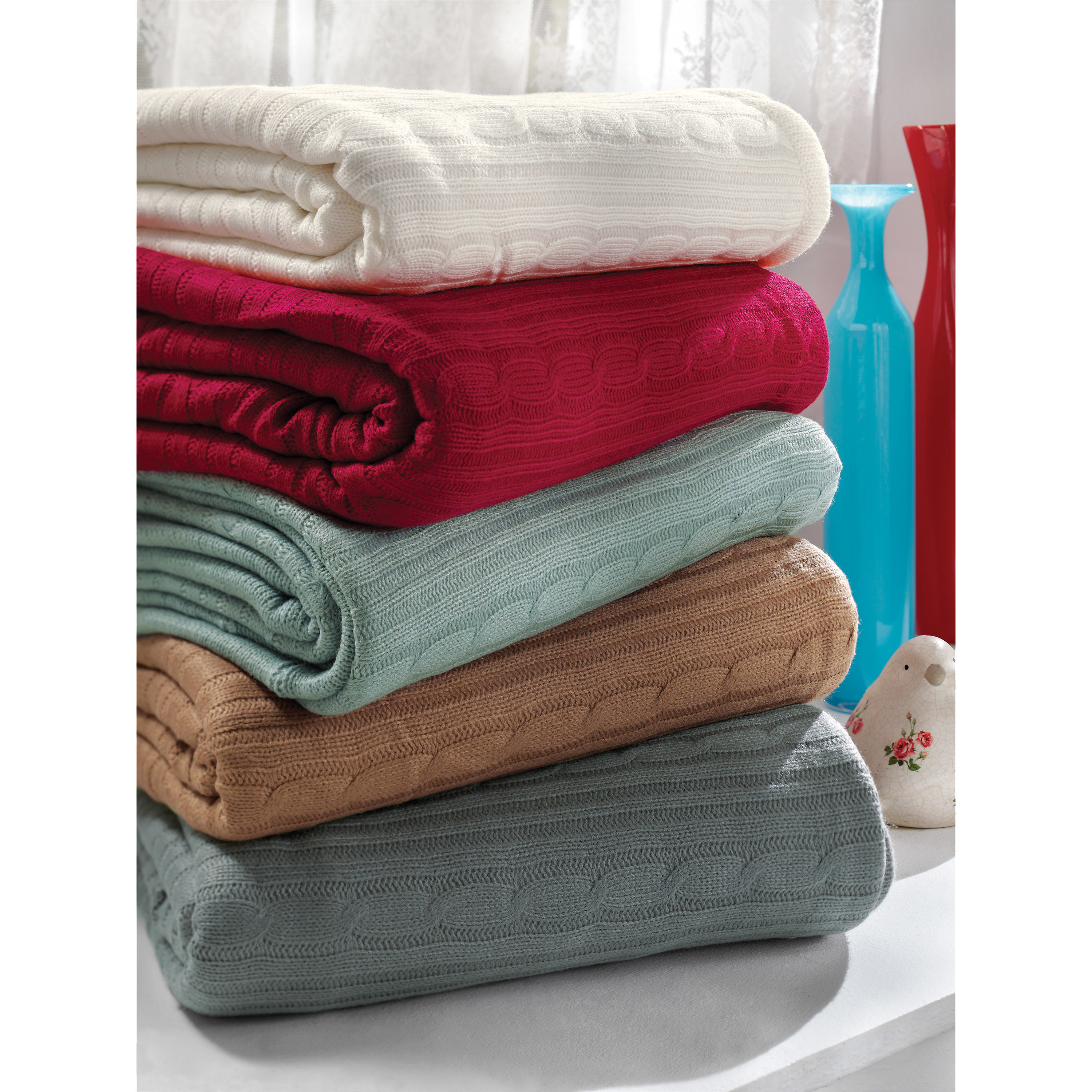 Unique Brielle Cozy Cable Knit Throw Blanket & Reviews Cable Blanket Of Contemporary 40 Ideas Cable Blanket