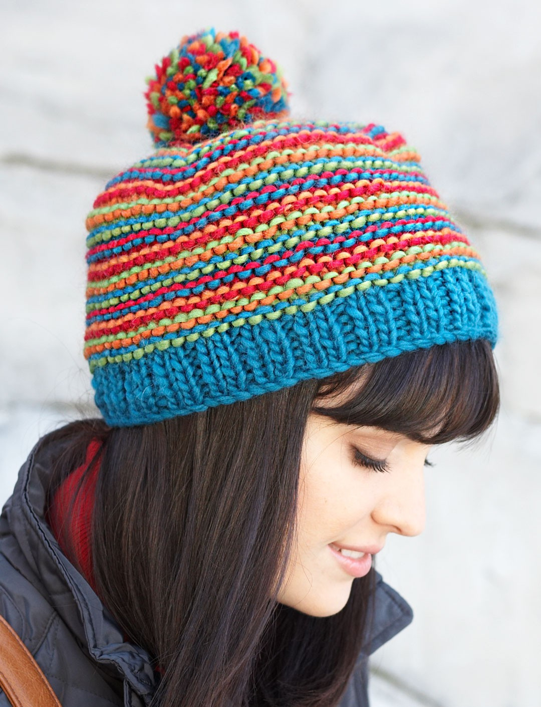 Unique Bright Stripes Beanie In Patons Classic Wool Roving Patons Yarn Patterns Of Adorable 48 Images Patons Yarn Patterns
