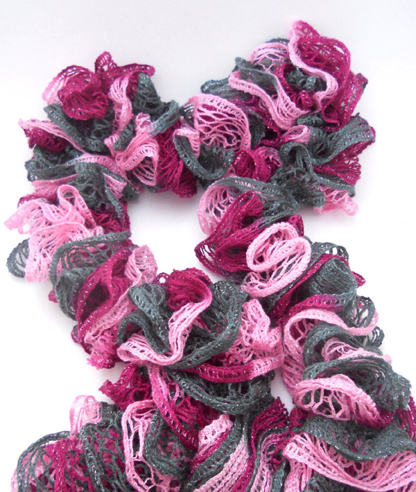 Unique Burgundy Pink Gray Ruffle Scarf with Sashay Yarn Ruffle Ruffle Scarf Of Unique 50 Pics Ruffle Scarf